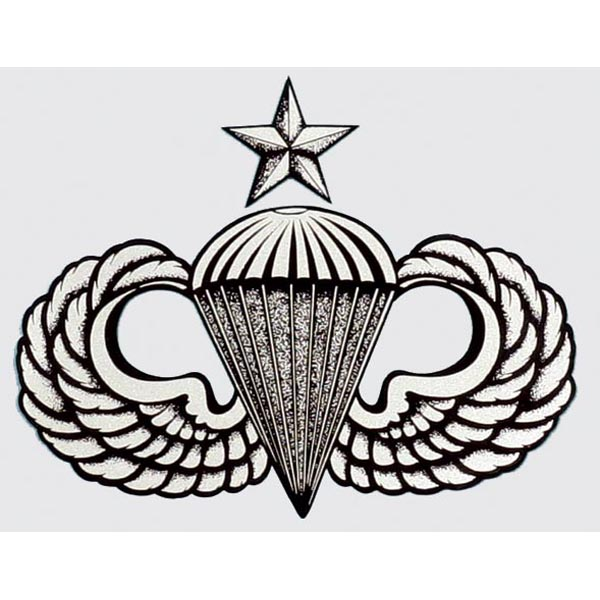 US Army Airborne Senior Parachute Wings Sticker Decal